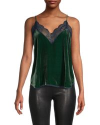 Zadig & Voltaire Lace-trim Camisole - Green