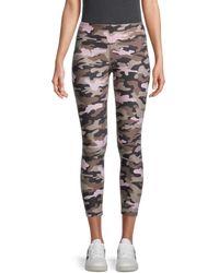 Calvin Klein Women's Camouflage-print Leggings - Tan Pink Camo - Size L
