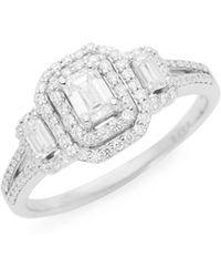 Saks Fifth Avenue - 14k White Gold Baguette Diamond Engagement Ring - Lyst
