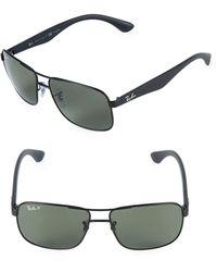 Ray-Ban 59mm Round Aviator Sunglasses - Black