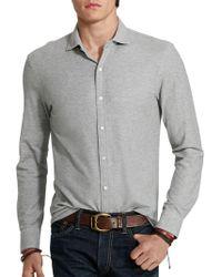 Ralph Lauren Blue Label - Solid Casual Shirt - Lyst