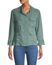 Sanctuary Women's Trellis Safari Jacket - Trellis - Size L - Green