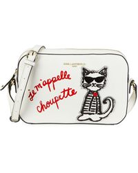 Karl Lagerfeld Maybelle Choupette Valentine Crossbody - White