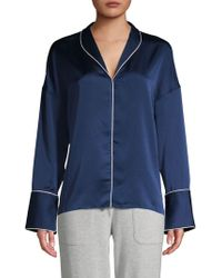 Pure Navy - Classic Pajama Top - Lyst