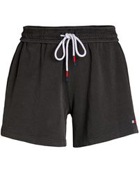 Tommy Hilfiger Drawstring Cotton Shorts - Black
