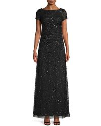 Adrianna Papell Sequin Embellished Gown - Black