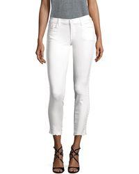 J Brand Side Braided Skinny Jeans - White