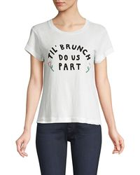 Wildfox Till Brunch Do Us Part Graphic Tee - White