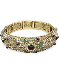 Heidi Daus - A Twist On Tradition Swarovski Crystal Bracelet/goldtone - Lyst