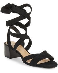 Saks Fifth Avenue Marissa Lace-up Leather Sandals - Black