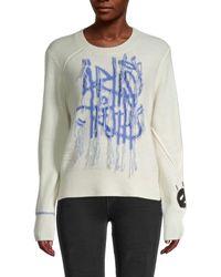 Zadig & Voltaire Chunky Graffiti Wool & Cashmere Jumper - Multicolour