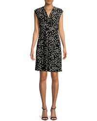 Jones New York - Printed Twisted Front Dress - Lyst