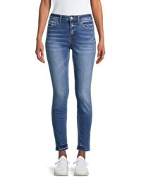 Flying Monkey Mid-rise Skinny Ankle Jeans - Blue