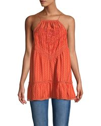 Free People Sleeveless Cotton-blend Tunic - Red