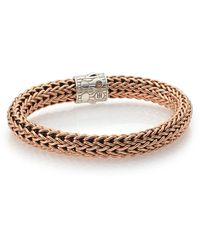 John Hardy Bronze & Sterling Silver Chain Link Bracelet - 3mm - Metallic