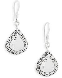 Lois Hill - Classic Sterling Silver Drop Earrings - Lyst
