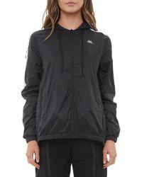 Kappa Women's 222 Banda Dawyn Zip-front Training Jacket - Black - Size L