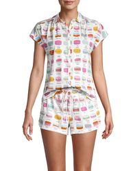 Jane And Bleecker 2-piece Cotton-blend Shorty Pyjama Set - White