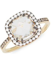 Suzanne Kalan - White Moonstone, Champagne Diamond And 14k Yellow Gold Ring - Lyst