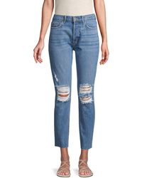 Siwy Gaby Deconstructed Skinny Ankle Jeans - Blue
