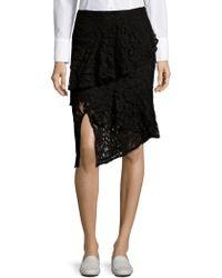 Lea & Viola - Lace Knee-length Skirt - Lyst