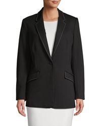 T Tahari Outline-stitched Jacket - Black