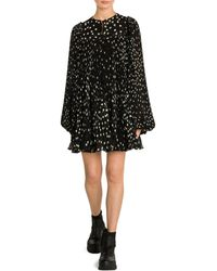 Stella McCartney Scattered Polka Dot Babydoll Dress - Black