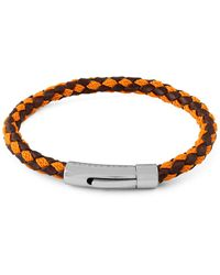 Tateossian Stainless Steel & Leather Bracelet - Brown