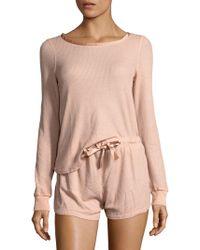 Project Social T - Rib-knit Pattern Tee & Shorts - Lyst