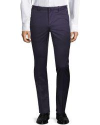 Corneliani - Straight-fit Cotton Dress Pants - Lyst