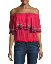 Piper - Byron Off-the-shoulder Top - Lyst
