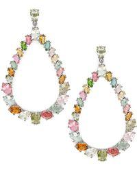 Bavna - Multicolored Tourmaline Teardrop Earrings - Lyst