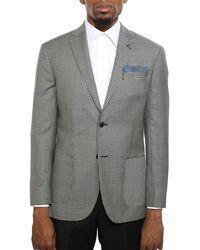 Michael Bastian Slim-fit Gingham Wool Jacket - Multicolour
