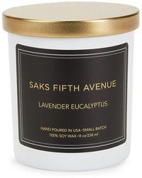 Saks Fifth Avenue Lavender Eucalyptus Scented Candle - Black