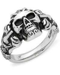 Effy Skull Sterling Silver Ring - Metallic