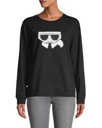 Karl Lagerfeld Floating Kl Sweatshirt - Black