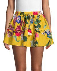 Hemant & Nandita - Floral Ruffled Skirt - Lyst