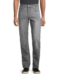 7 For All Mankind Men's The Straight Jeans - Gray - Size 32 R