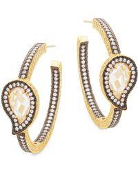 Freida Rothman - Paisley Stone Radiance Hoop Earrings - Lyst