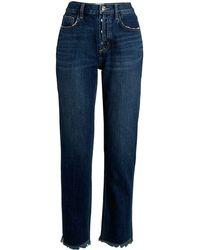 Current/Elliott High-waist Straight Jeans - Blue