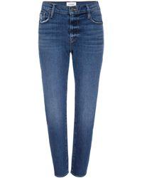 FRAME Le Garcon Cropped Jeans - Blue