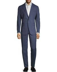 Saks Fifth Avenue - Two-piece Modern-fit Plaid Wool Suit - Lyst