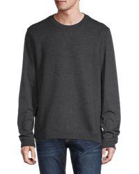 Ted Baker Men's Ribbed Crewneck Sweatshirt - Charcoal - Size 5 (xl) - Gray