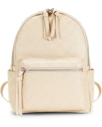 French Connection Mini Marin Embossed Logo Backpack - White
