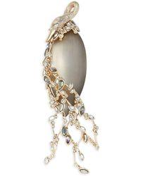 Alexis Bittar 10k Goldplated, Lucite & Multicolour Crystal Bird Brooch