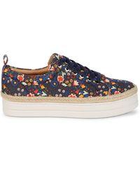 Jack Rogers Women's Mia Platform Sneakers - Midnight - Size 6 - Blue