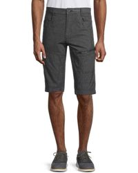 Standard Issue Ripstop Pinstriped Cargo Shorts - Black