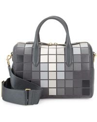 Anya Hindmarch Vere Giant Pixel Leather Barrel Bag - Gray