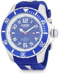 Kyboe - Power Silver Sea Stainless Steel Analog Strap Watch - Lyst
