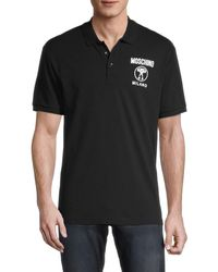 Moschino ! Logo Cotton Polo - Black